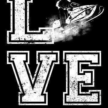 Funny Snowmobile Shirt Love Snowmachine by shoppzee