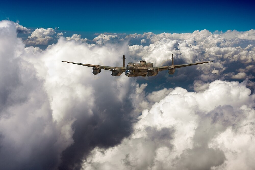 Avro Lancaster above clouds by Gary Eason