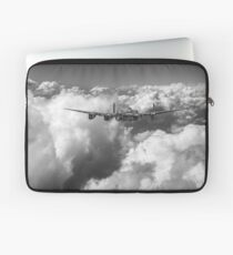 Avro Lancaster above clouds B&W version Laptop Sleeve