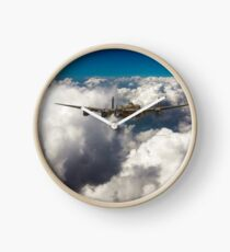 Avro Lancaster above clouds Clock