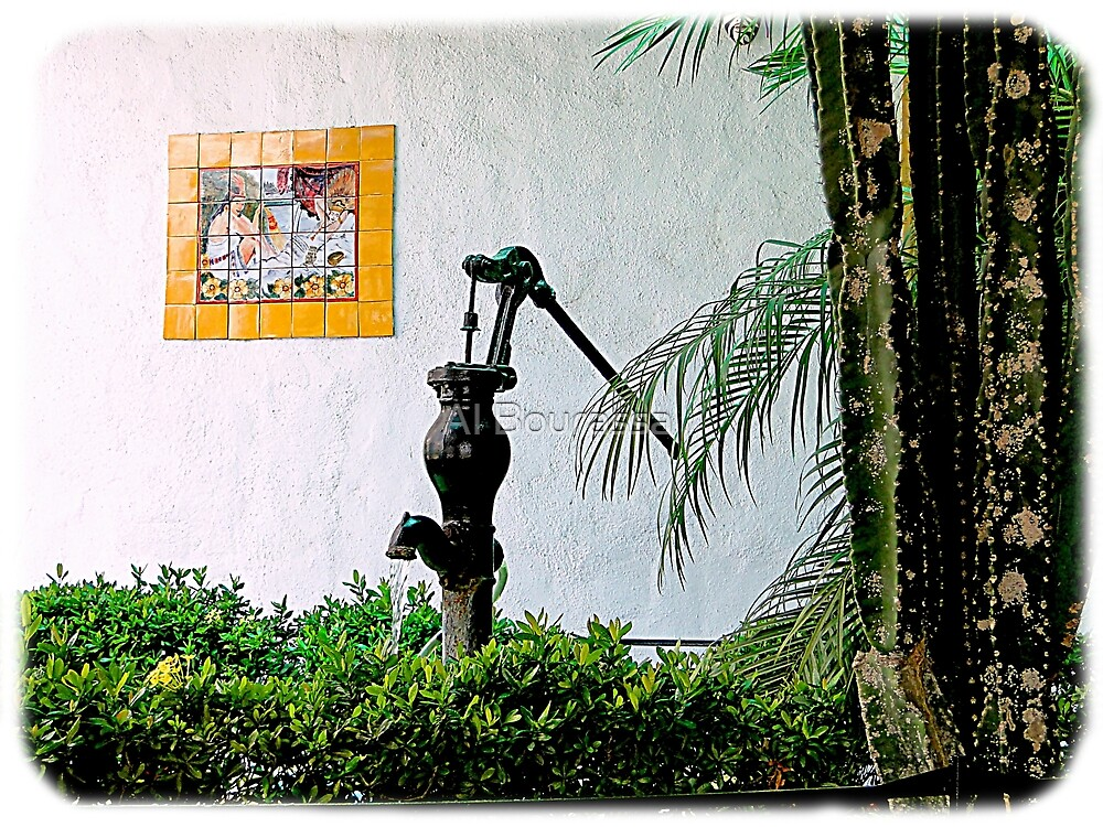 Antique Water Pump in Santiago, Panama by Al Bourassa