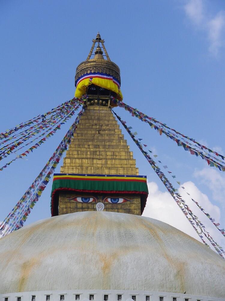 Nepal - Stupa by valoulavazay