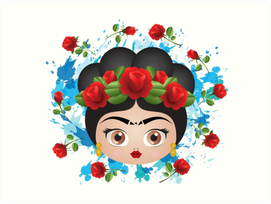 Frida Kahlo Cute Roses Pattern Mexico Art Prints By Mimogoshopping
