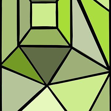Green geometric graphic by KWhaleBone