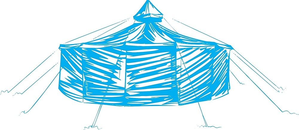 Yurt blue by celtic2010