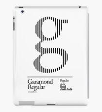 The Letter G Garamond Type iPad Case/Skin