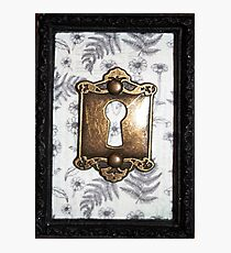 Gothic Floral Keyhole Ornate Frame Photographic Print