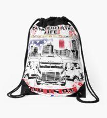 Transportation Life Black Logo Back only Drawstring Bag