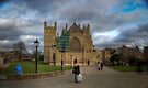 Exeter City Centre: Exeter Cathedral Stormy Day UK by DonDavisUK