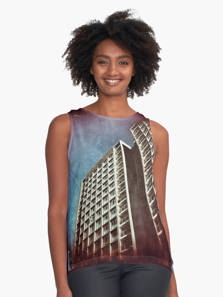 Building Towards The Sky Contrast Tank Front