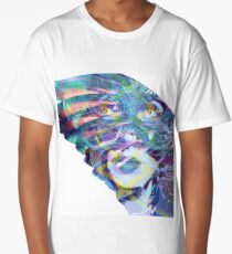 Lady with Mysterious Mask on a Wing Long T-Shirt