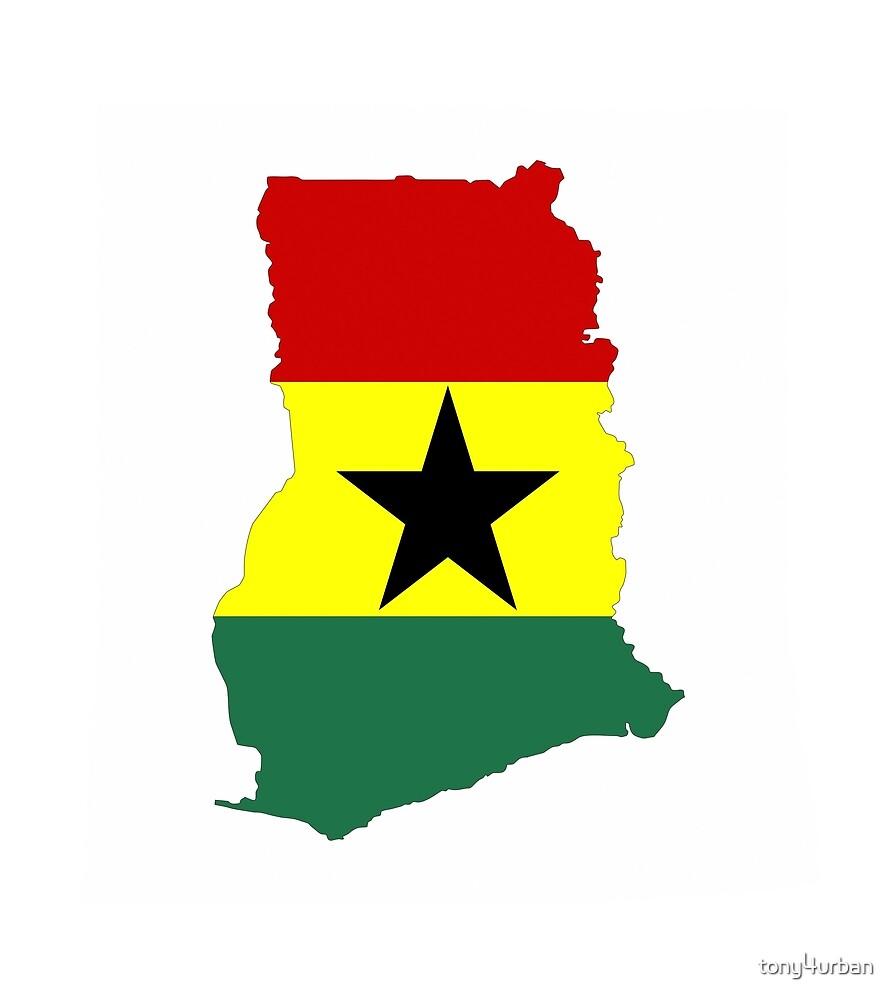 ghana flag map by tony4urban