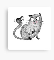 Cat playing Canvas Print