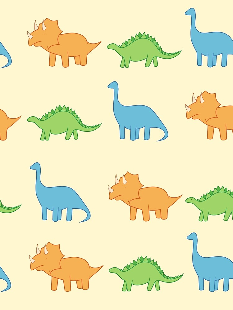 Dinos - yellow background by morganjade