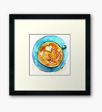 hearts and coffee Framed Print
