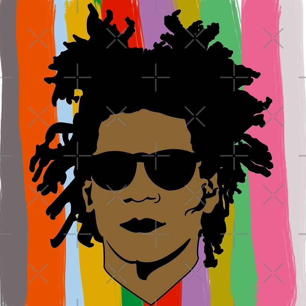 Pop Basquiat colors by Sasia