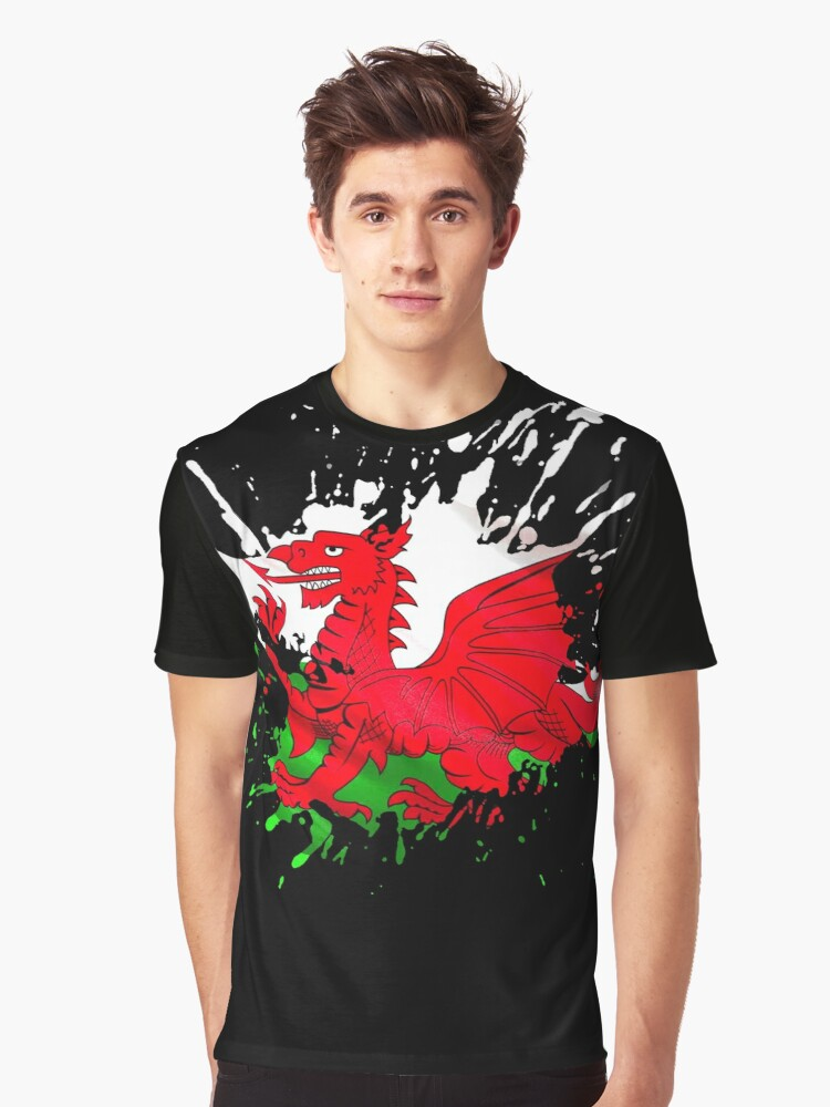 Wales Flag Graphic T-Shirt Front