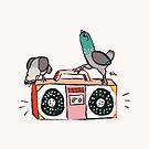 «Boombox Pigeon Party» de Theysaurus