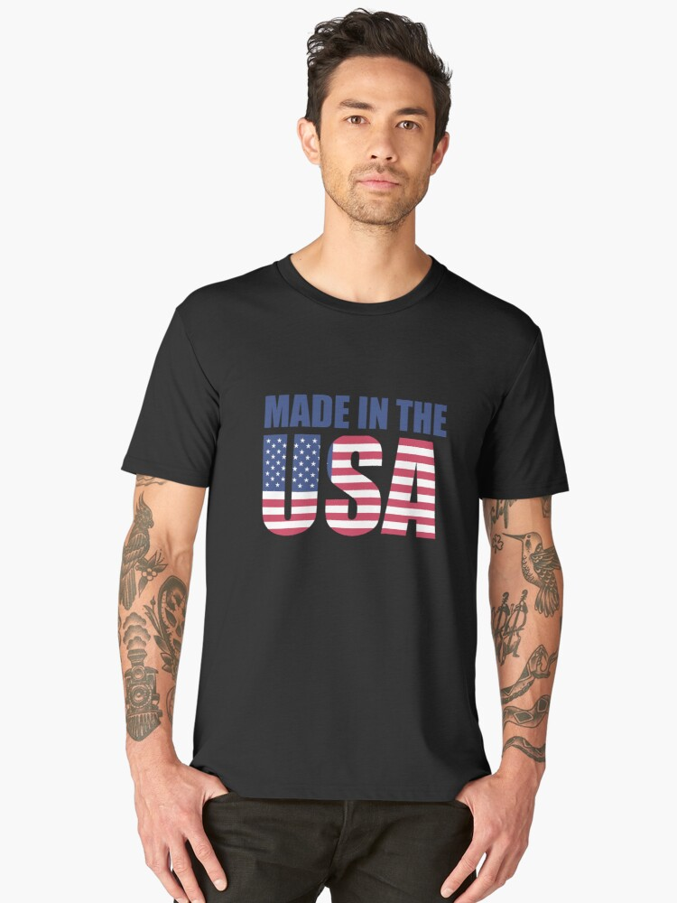 Made in the USA Men's Premium T-Shirt Front