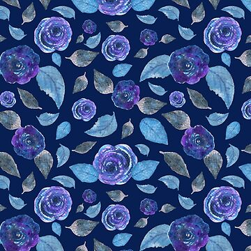 Midnight Roses-Indigo Palette  by Neginmf