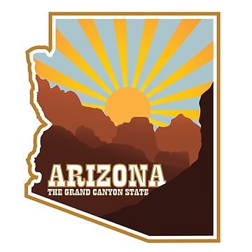 Arizona - The Grand Canyon State Badge by JPDesignsStuff