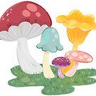 Mushrooms Sticker by MangoDoodles