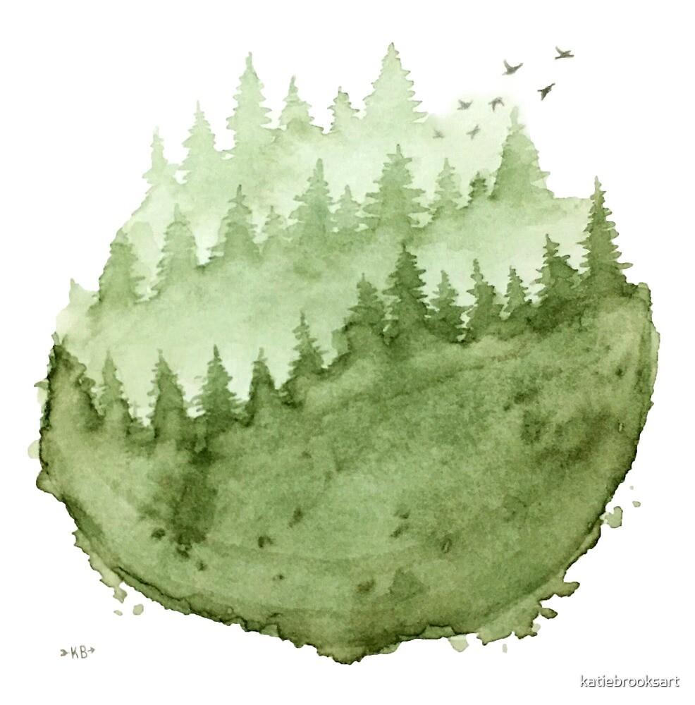 Mountain Fog by katiebrooksart