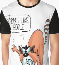 I Don't Like People Cat  Graphic T-Shirt