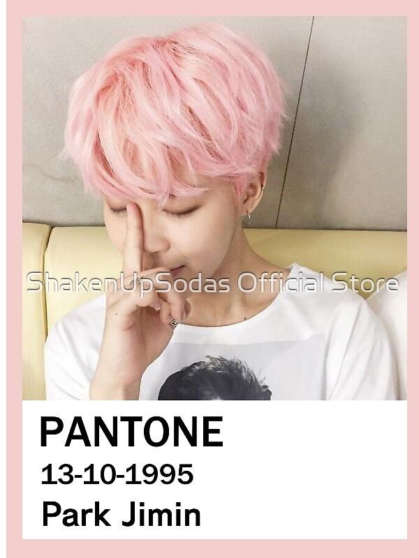 Park Jimin Pantone swatch  by ShakenUpSodas Official Store