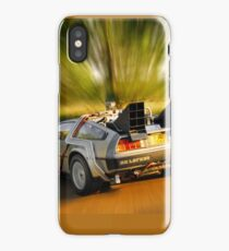 DELOREAN.... Back to the Future. iPhone Case/Skin