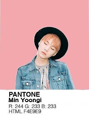 Min Yoongi Pantone Swatch by ShakenUpSodas Official Store