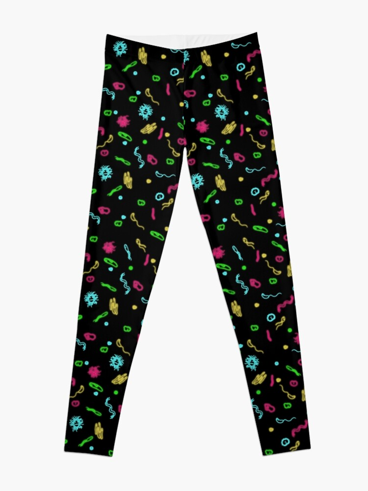 Alternate view of Fluorescent Microbes Leggings