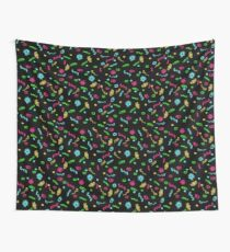 Fluorescent Microbes Wall Tapestry