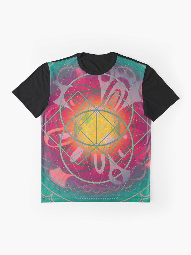 Alternate view of Galactic Federation of Light - Love Bomb Graphic T-Shirt