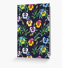 Pansy violet pattern Greeting Card