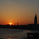 Sunset in Venice (2) Edge of the Canal Grande by ejacent