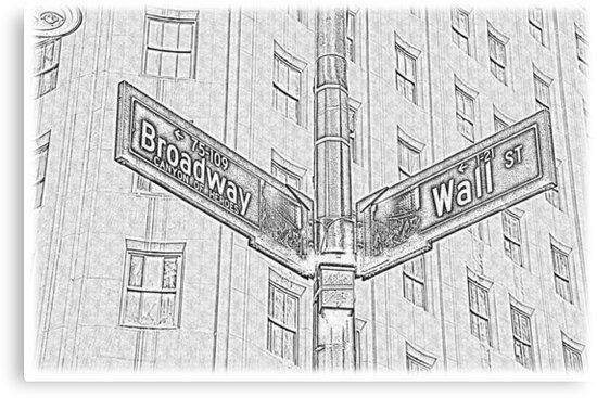 Drawing Broadway - Wall Street by D0nPhil