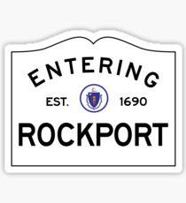 Entering Rockport Massachusetts - Commonwealth of Massachusetts Road Sign  Sticker