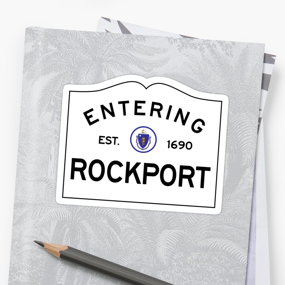 Entering Rockport Massachusetts - Commonwealth of Massachusetts Road Sign  by NewNomads