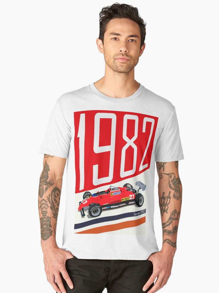 Gilles Villeneuve Men's Premium T-Shirt Front