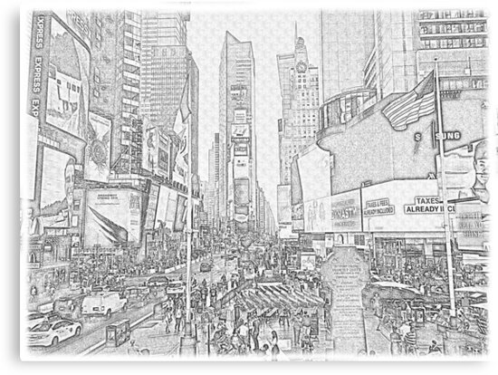 Drawing Times Square by D0nPhil