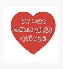 Quiche Heart Photographic Print