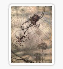 Spider & The Fly Victorian Illustration Sticker