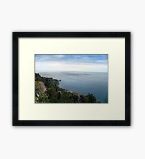 Panoramic view from Taormina, Sicily Framed Print