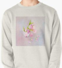 Pink & Purple Tulips And Tea Cup Pullover