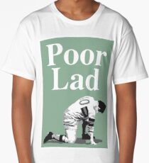 Poor Lad - White Text Long T-Shirt
