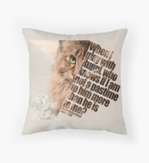 Cat picture by Ruppi - diagonal Throw Pillow