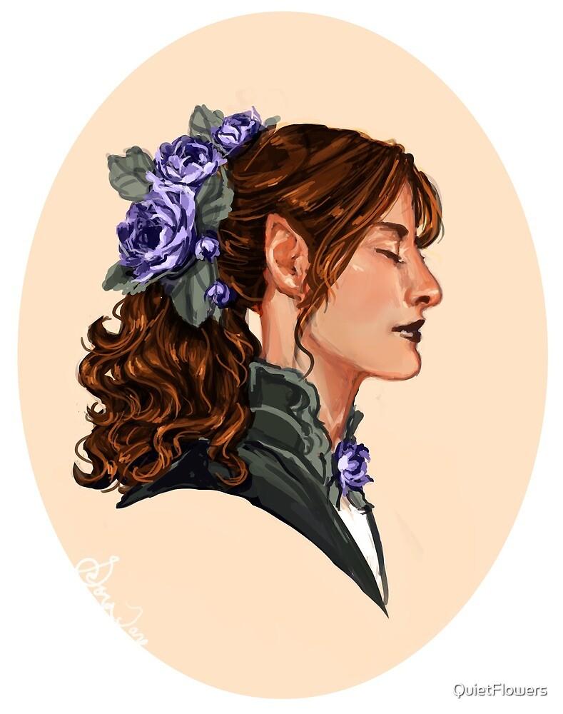 Flower Elf in Profile by QuietFlowers