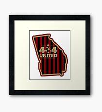 404 United Atlanta Soccer Georgia map shirt Framed Print