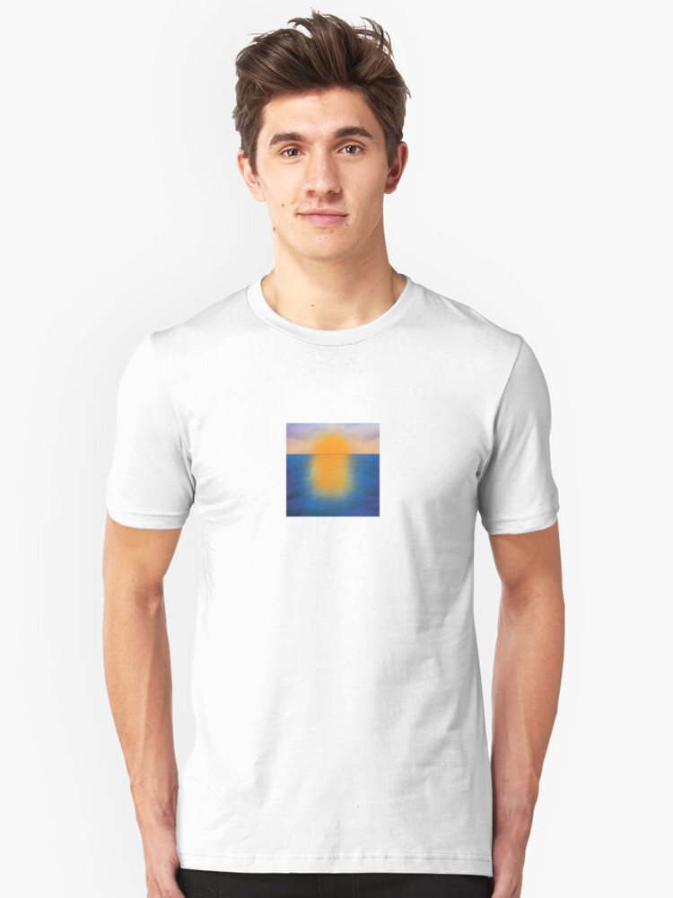 The artistic vision - sea sunset. Unisex T-Shirt Front